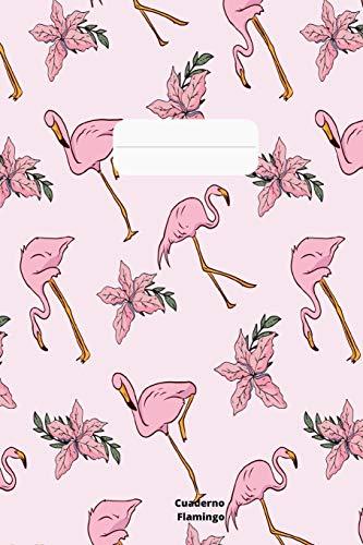 Cuaderno Flamingo: Cuaderno de flamencos rosados para mujeres y niñas como cuaderno de tareas. Diario para el trabajo y cuadros