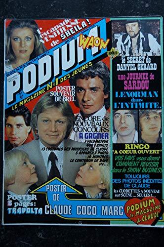 PODIUM n° 81 Claude FRANCOIS Brel Sheila Dalida Lenorman Daniel Gerard Incomplet Posters voir détail - 1978 11