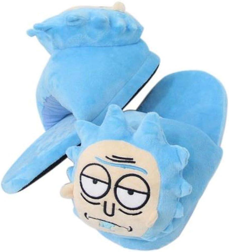 Rick Plush Slipper Unisex Teen/Adult Blue