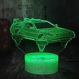 SCNYCUL 3D Veilleuse Voiture de vitesse high-tech Flame7 colors USB LED Lampe de Table Ampoule Amoureux Doux Cadeau