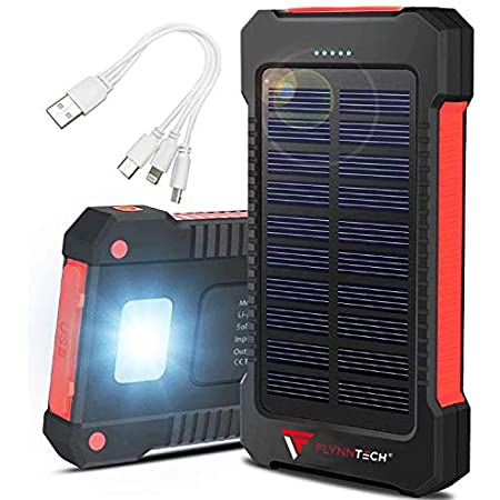 Portable Solar Charger - Solar Powerbank – Portable 10,000mah Charger - Best Waterproof Solar Charger for Phones, USB Devices, Tablets & MP3 Players - for Indoor & Outdoor Use - with Compass