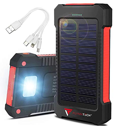 Portable Solar Charger - Solar Powerbank – Portable 10,000mah Charger - Best Waterproof Solar Charger for Phones, USB Devices, Tablets & MP3 Players - for Indoor & Outdoor Use - Compass inc