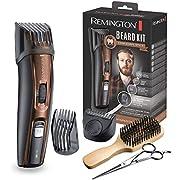 Remington Beard Kit MB4046 - Kit Recortador de Pelo y Barba, Cuchillas de Titanio, 5 Accesorios, Con o sin cable, Negro y Marrón