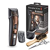 Remington Beard Kit MB4046 - Kit Recortador de Pelo y Barba, Cuchillas de Titanio, 5 Accesorios, Con o sin cable, Negro y Marrón