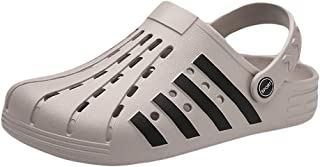 FDSVCSXV Mens Garden Clogs Mules, Breathable Lightweight Water Shoes Sandals Slippers Outdoor Beach Shower,gray,40
