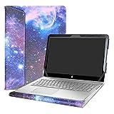 Alapmk Diseñado Especialmente La Funda Protectora de Cuero de PU para 15.6' HP Envy 15 15-asXXX Series Ordenador portátil,Galaxy