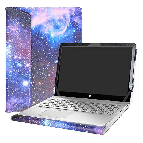 """Alapmk Diseñado Especialmente La Funda Protectora de Cuero de PU para 15.6"""" HP Envy 15 15-asXXX Series Ordenador portátil,Galaxy"""