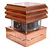 Extractor De Humos Para Chimeneas Cobre Sombrero Eléctrico Extractores de humo Aspirador Para Chimenea De Leña Para Barbacoa Parrilla Estufa De Pellets Modelo Profesional Gemi Elettronica