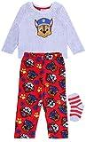 Pijama Rojo-Gris + Calcetines Patrulla Canina 3-4 Años 104 cm