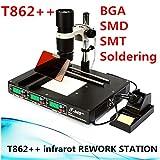 Estación de soldadura T862++ por infrarrojos, estación de soldadura de alta calidad SMD IRDA, dispositivo de soldadura 800 W, set de soldadura de 220 V, estación de soldadura