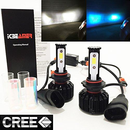 Mega Racer (2 Colors in 1 Set) 9005 HB3 30000K Blue 6000K White (High Beam Headlight) CREE COB LED Xenon Kit Kit 8000 LM 80W