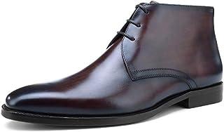 Rui Landed Véritable Bottes en Cuir pour Hommes Haut Haut Oxford À Lacets Breveté Robe Habillée Chaussures Douces Et Anti ...