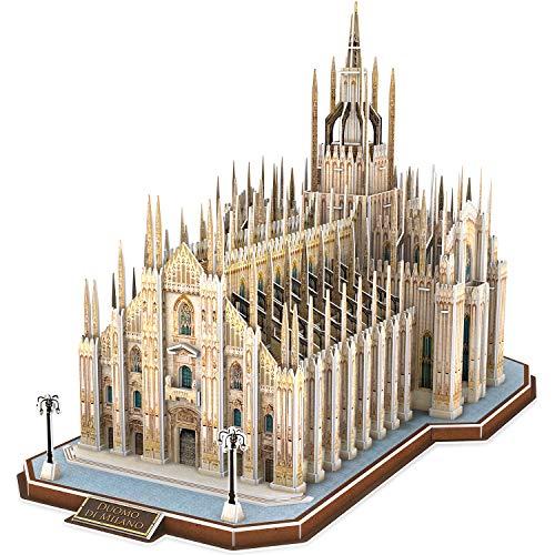 CubicFun Puzzles 3D Italia Duomo di Milano Arquitecturas Kits de construcción de Modelos Catedral entrelazada Regalo de Recuerdo para Adultos y niños, 251 Piezas