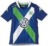 Kappa Caso–Camiseta de fútbol (Manga Corta), diseño del VFL Wolfsburg, Infantil, Trikot VFL Event Tricot Short Sleeve Kids, Blue - Deep Water