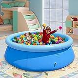 Piscina inflable,Kacsoo Piscina Hinchable 240*240*63cm Piscina Redonda grande Puede acomodar de 6 a 8 Personas Piscina de bolas oceánicas Resistente al Desgastede Plegable,para Fiesta en La Piscina