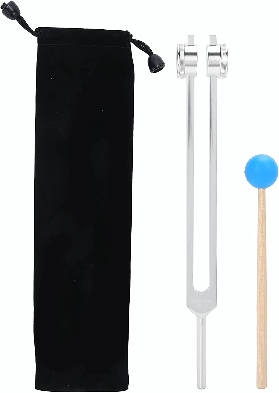 Juego de diapasones de 68,05 Hz con bolsa de almacenamiento, diapasón de aleación de aluminio con martillo de madera, diapasón de curación de sonido para aliviar el estrés