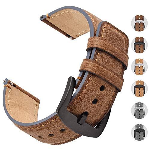 Fullmosa Cinturino 22mm Orologi Compatible con Huawei Watch GT/Cinturini 18mm 20mm 22mm per Smart Watch, Cinturino in Pelle di Ricambio a Sgancio Rapido e Installazione per Uomo e Donna