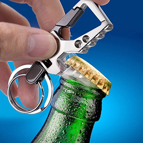 2 Pack Car Key Chain Bottle Opener Keychain for Men and Women (Multicolor)