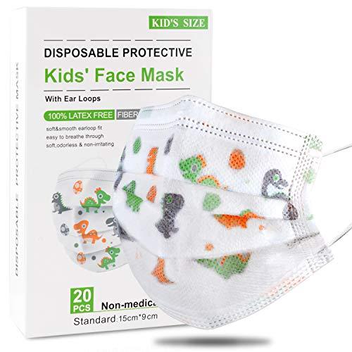 DISEN 20 Stück Kinder Mundschutz Masken kleine Mundschutz Masken Einweg-Gesichtsmasken Gesicht Masken Staubschutz Schutzmaske Atemschutzmaske Gesundheitsschutzmaske Gesichtsschutz für Kinder