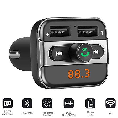 PolarLander Car MP3 Lecteur de Musique 2 USB Chargeur De Voiture sans Fil Transmetteur FM Mains Libres Appel Bluetooth Voiture Kit Soutien TF Carte Noir