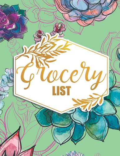 Grocery List: Daily Planner and Note Pad