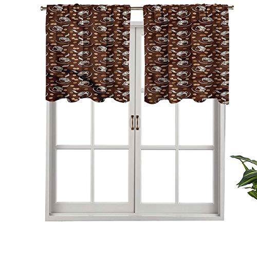 Hiiiman - Juego de 1 taza de cortina para interiores (137 x 45 cm)