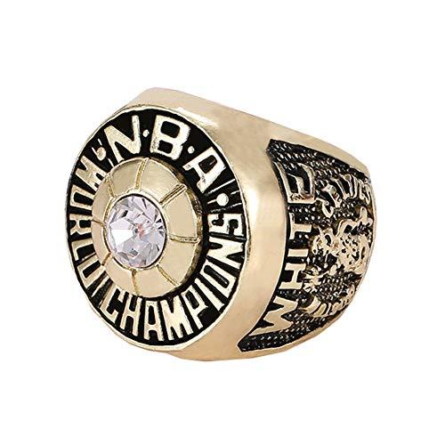 Fei Fei Anillos de Simplicidad con Estilo, Celtics de Baloncesto de la NBA de 1974, Anillo de réplica Campeonato, Regalo Coleccionable para fanáticos,Without Box,11