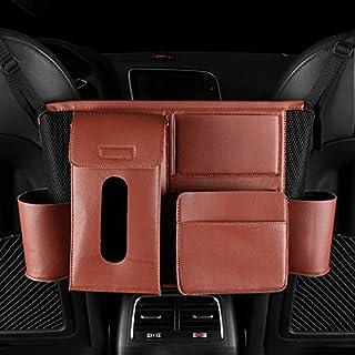 LENASH حقيبة تخزين جيب مقعد السيارة متعدد الوظائف (أسود) (اللون: بني)
