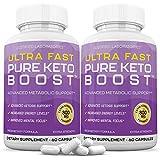 Ultra Fast Pure Keto Boost Pills Advanced BHB Ketogenic Supplement Exogenous Ketones Ketosis for Men Women 60 Capsules 2 Bottles