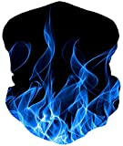 Loveternal Flamme Multifunktionstuch Flame Kopftuch Nahtloses Halstuch Sport-Halstuch,Schlauchtuch,Schal,Stirnband, Schnelltrocknend - Winddicht Face Scarf für Staub, im Freien, Sport,Festivals