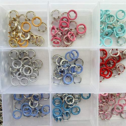 Wohlstand 180 xDruckknöpfe,Prong Schnalle,Druckknopf Jersey Color,Nähfrei Button Druckknöpfe Sewing Craft 8,5 mm,für DIY Kleidung, Taschen, Babykleidung