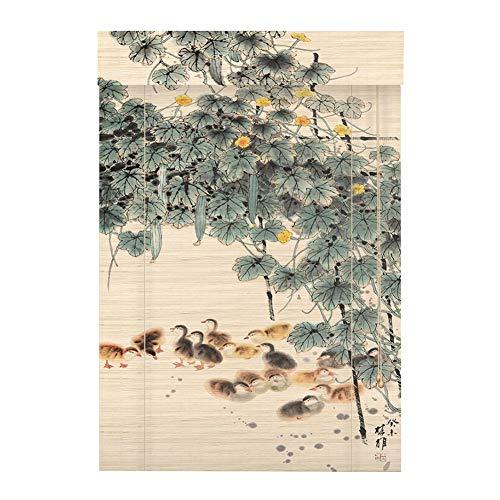 LIANGJUN Store Enrouleur Bambou Rideau Couper Impression Bande De Bambou Étroitement Tissé Lisse Résistant À L'usure Durable Personnalisable (Couleur : B, taille : 140x160cm)
