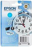 Epson 27 DURABrite Ultra - Cartucho de Tinta, Paquete estándar, Color Cian válido para los Modelos Workforce WF-7110DTW, WF-7210DTW, WF-7620DTWF y Otros, Ya Disponible en Amazon Dash Replenishment