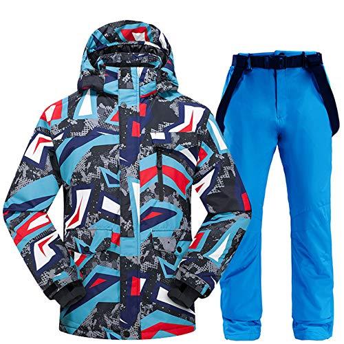 ESFHWYP Skianzug Männer Winter Thermo Kleidung Schneehose Skijacke Männer Set Ski- und Snowboardanzüge color05 XXL