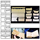 14pcs Leathercraft Clear Acrylic Wallet Pattern Stencil Template Set Leather Craft DIY Tool