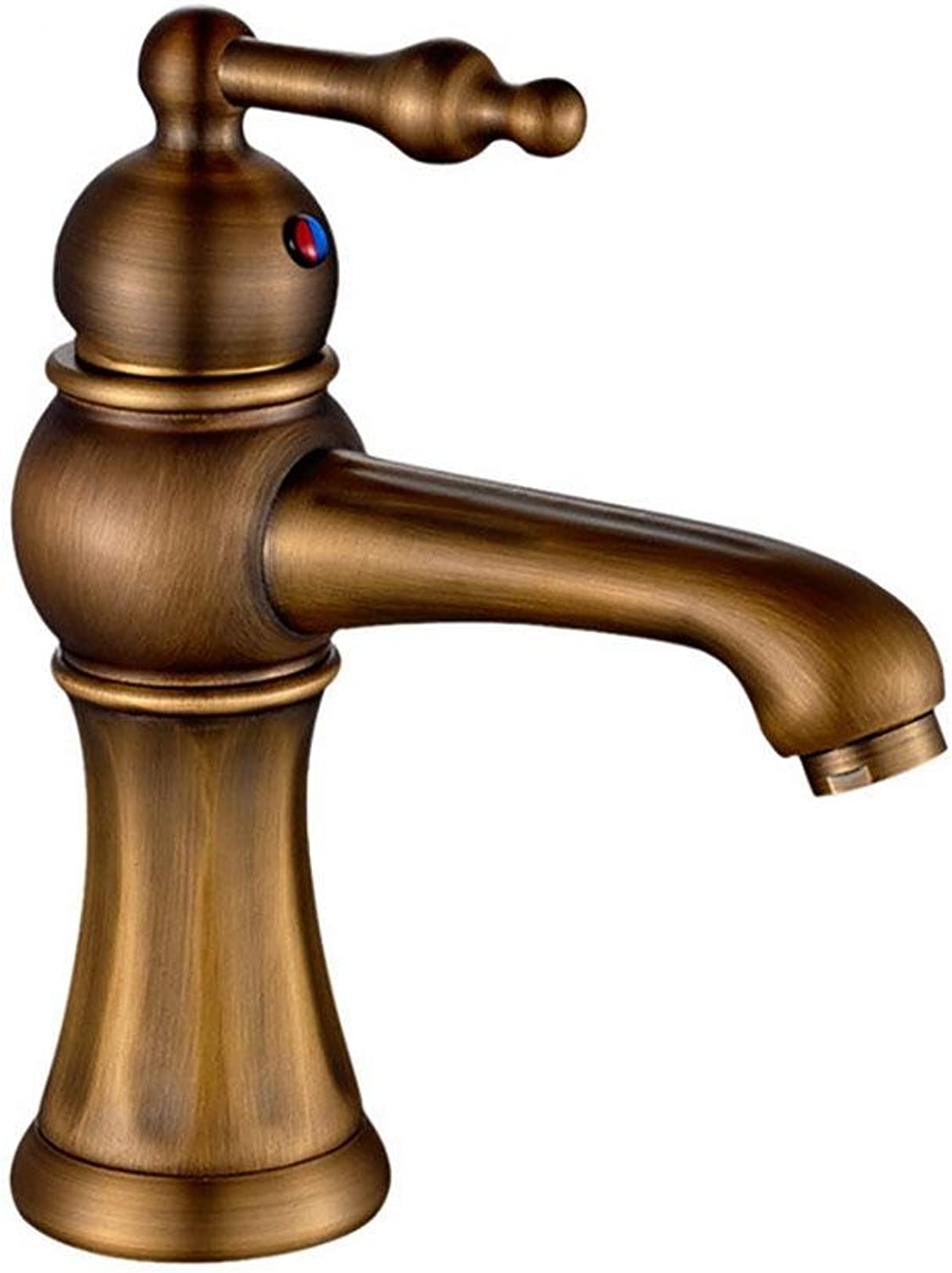 Shuilongtou QW Kitchen faucet Bathroom Basin Mixer Tap Single Handle Antique Brass