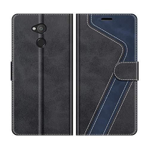 MOBESV Handyhülle für Sony Xperia L2 Hülle Leder, Sony Xperia L2 Klapphülle Handytasche Case für Sony Xperia L2 Handy Hüllen, Schwarz
