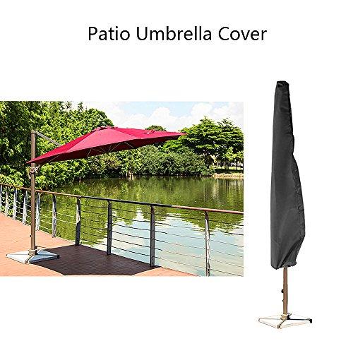 Couverture de patio en plein air couverture de jardin jardin marché couverture de parasol sac de fermeture à glissière de stockage de couverture étanche pour 9ft à 11 pieds