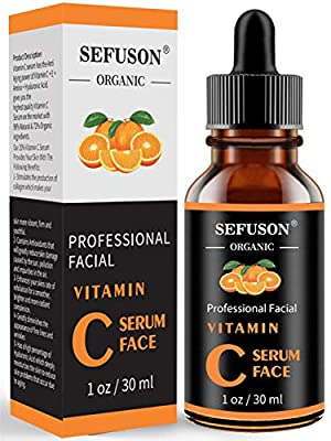 Vitamin C Serum Face, With Hyaluronic Acid, Vitamin E,20% Vitamin C for Anti-wrinkle, Dark Circle, Restore & Boost Collagen, Firming skin - 30ML. from Guangzhou Yilong Daily Chemicals Coltd