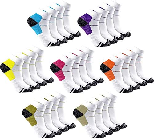 14 Pairs Ankle Compression Socks Arch Ankle Support Socks Compression Athletic Crew Socks for product image