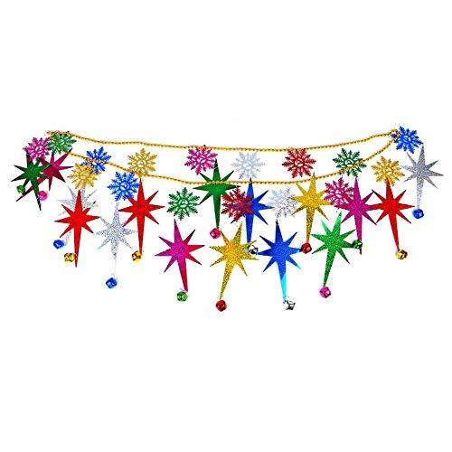 FJROnline Wimpelkette für Weihnachtsbaum, Party, Jahrestag, Geburtstag, Einkaufszentrum, Festivals, Dekorationen (A-ELK)