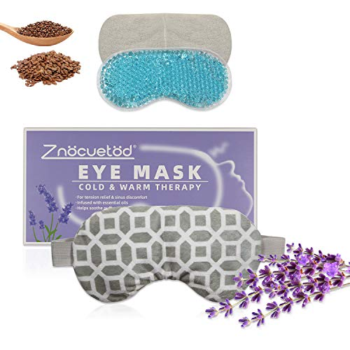 Can dark circles under eyes be removed - 2 in 1 Heated/Ice Eye Mask Moist Heat Eye Mask Lavender & Flaxseed Sinus Pillow Microwavable for Dry Eye,Styes,Sinus Pain,Headache,Migraine,Puffy or Swollen Eyes Irritated and Inflamed Eyelid Bumps