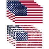 GRITKULTURE Pack of 10 US American Flag Decal Packs Flag Black American Flag Back the Blue Flag for Car Decals Car Stickers Bumper Stickers and Truck Stickers Thin Blue Line 5.1 x 3 inch American USA Sticker Blue Lives Matterer Flag Reflective Vinyl USA Flag Reflective Tape