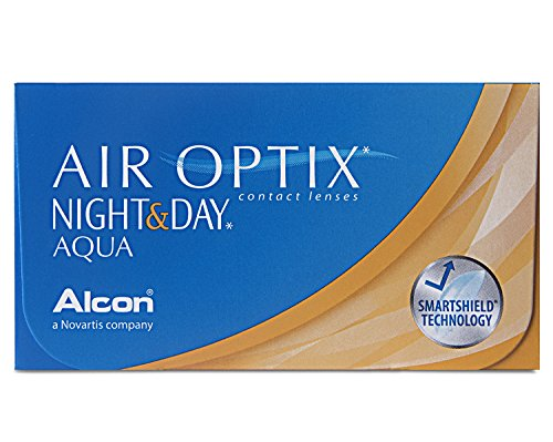 Air Optix Night & Day Aqua Monatslinsen weich, 6 Stück / BC 8.6 mm / DIA 13.8 / 0 Dioptrien