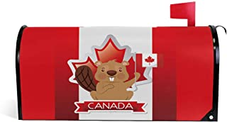 henfar Canada Flag Mailbox Covers Magnetic Post Box Cover Wrapped Standard Size 21
