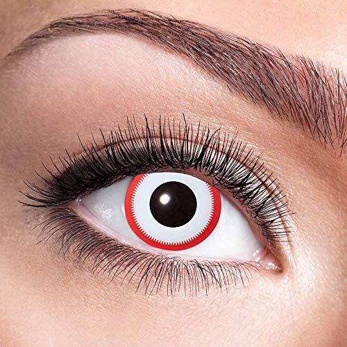 Alsino Farbige Kontaktlinsen Wochenlinsen 1 Paar Bunt Gruselig ohne Stärke für Mottopartys Halloween Fastnacht Karneval Fasching Kostüm Accessoire, (w37) Saw