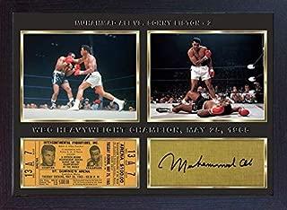 S&E DESING Boxer Muhammad Ali v Sonny Liston 2 Signed Autograph Boxing Photo Print Framed