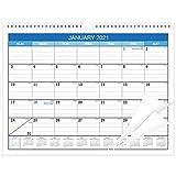 "2 PCS 2021デスクカレンダー - 12月営業所/壁カレンダー2-IN-1,17""x 12""、2021年1月 - 2021年12月2021年12月、コーナープロテクター付き厚紙,D,17*12INCHES"