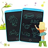 Enotepad 2Packs LCD Writing Tablets for Kids, Drawing Doodle Board 8.5 Inch Electronic Graphics for Children, Portable Digital eWriter Blue+Blue