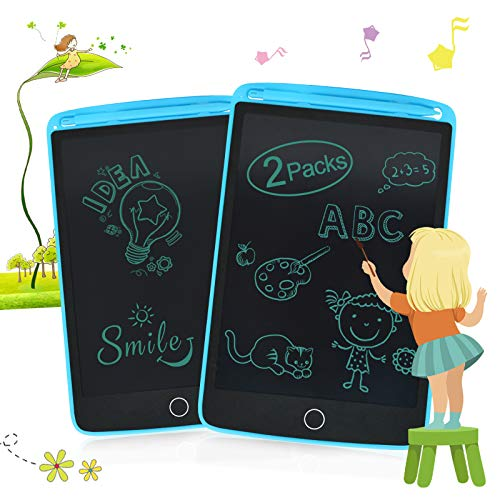Enotepad LCD Writing Tablets for Kids, Drawing Doodle Board 8.5 Inch Electronic Graphics for Children, Portable Digital eWriter Blue*2